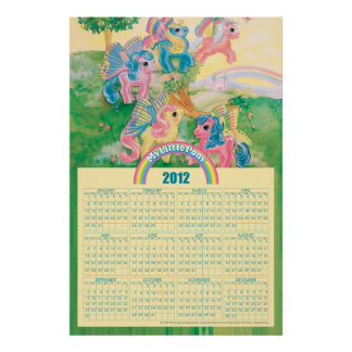 Pony Butterfly Wings 2012 Calendar Poster