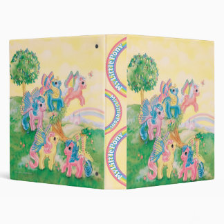 Pony Butterfly Wings 3 Ring Binder