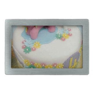 Pony cake 1 rectangular belt buckle