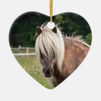 pony ceramic ornament