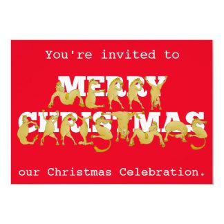 Pony Christmas Party Invite