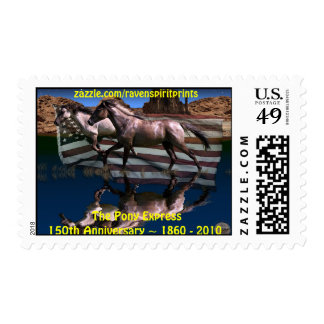 Pony Express 150th Anniversary Horse Postage Stamp