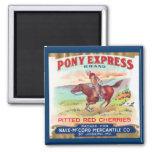Pony Express Cherries Advertisement Magnet