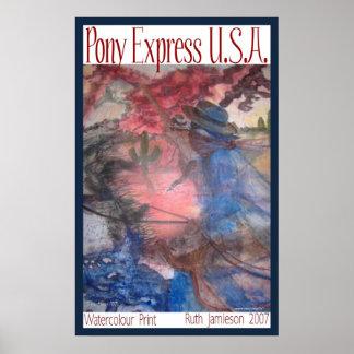 PONY EXPRESS LOS E.E.U.U. PÓSTER