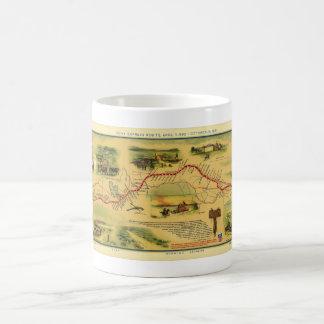 Pony Express Map by William Henry Jackson 1861 Classic White Coffee Mug