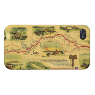 Pony Express Map by William Henry Jackson 1861 iPhone 4/4S Cover