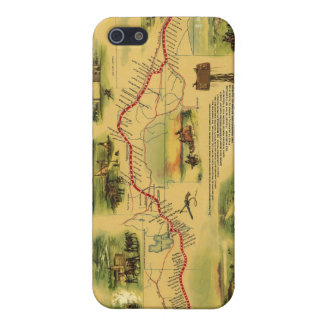 Pony Express Map by William Henry Jackson 1861 iPhone SE/5/5s Cover