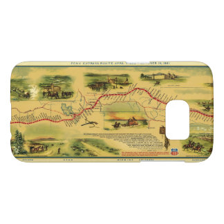 Pony Express Map by William Henry Jackson 1861 Samsung Galaxy S7 Case