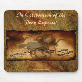 Pony Express Map Route Anniversary Mousepad