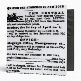 Pony Express, Nine Days Binder