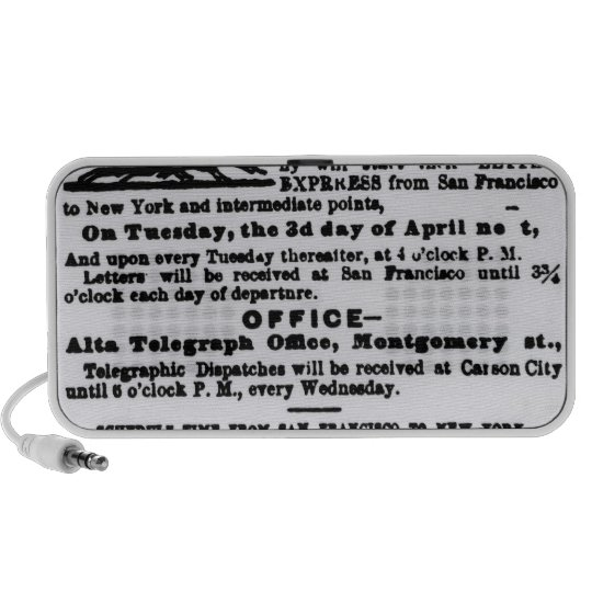 Pony Express, Nine Days Portable Speaker
