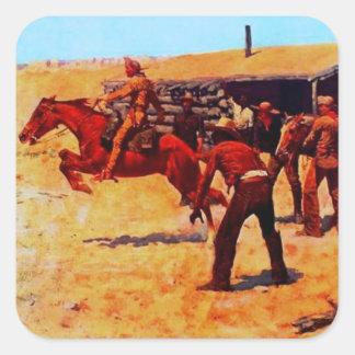Pony Express Pegatina Cuadrada