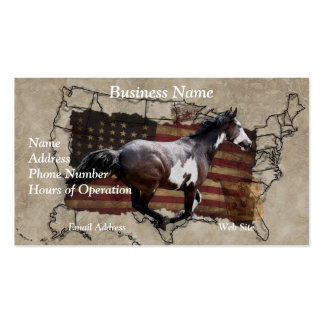 Pony Express Pinto Horse Delivering US Mail Double-Sided Standard Business Cards (Pack Of 100)