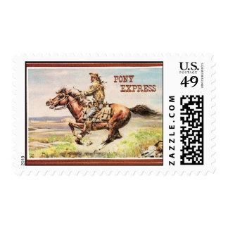 Pony Express postage