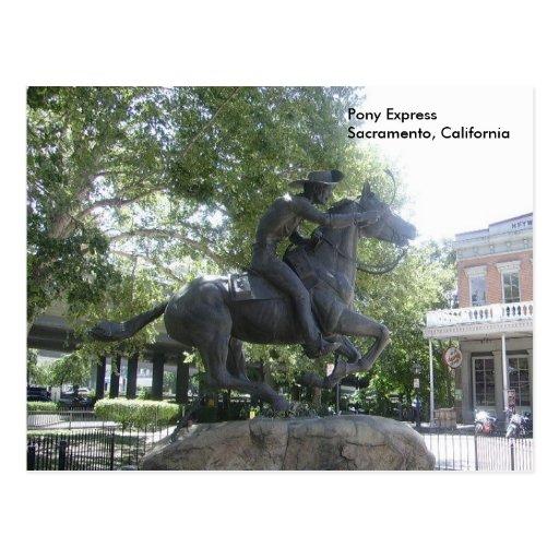 Pony Express Post Card