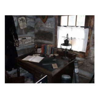 Pony Express Station Indoor Desk Area Postcard