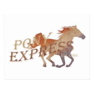 Pony Express Vintage Postcard