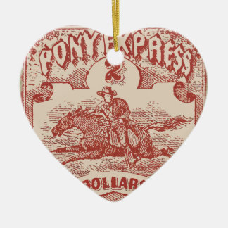 Pony Express Vintage Stamp Ceramic Ornament
