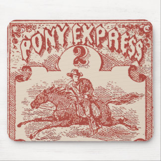 Pony Express Vintage Stamp Mouse Pad