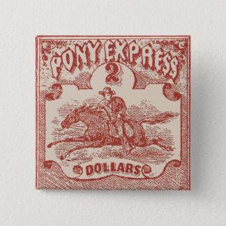 Pony Express Vintage Stamp Pinback Button