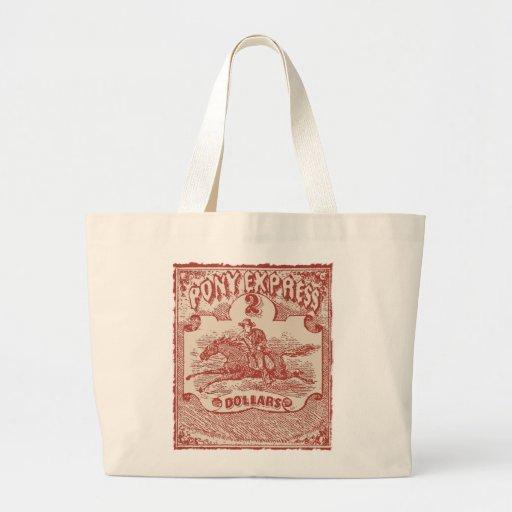 Pony Express Vintage Stamp Tote Bag