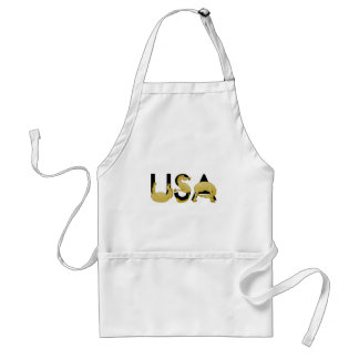 Pony flexing into the letters USA Adult Apron
