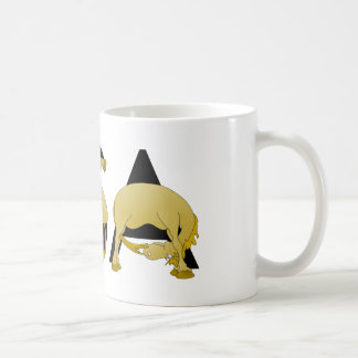 Pony flexing into the letters USA Coffee Mug