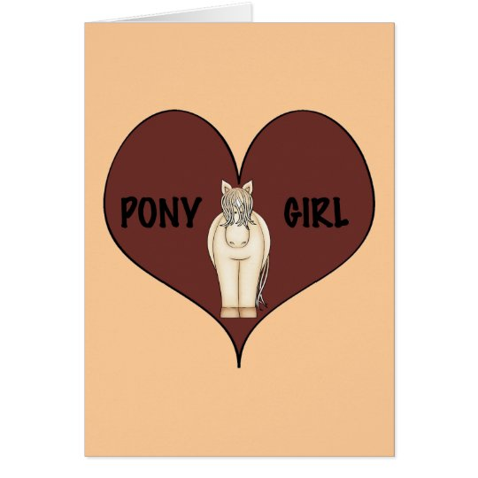 Pony Girl Card