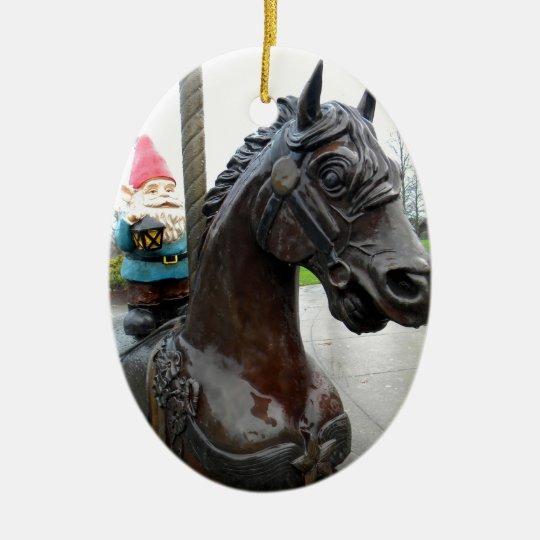 Pony Gnome Ceramic Ornament