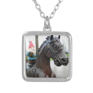 Pony Gnome Silver Plated Necklace