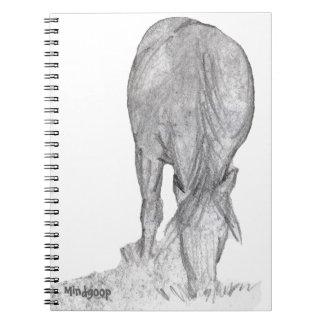 pony grazing spiral notebook