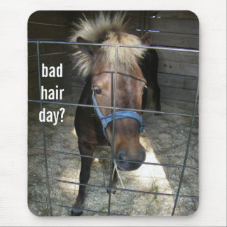 PONY HAVING BAD HAIR DAY MOUSE PAD