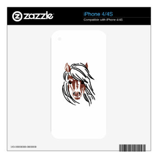Pony Head Larger iPhone 4S Decals