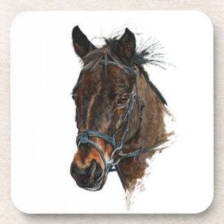 pony head study art coaster