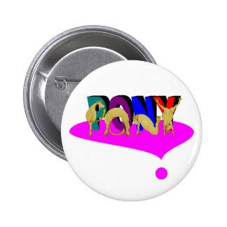 Pony heart 2 inch round button