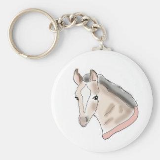 Pony / Horse Basic Round Button Keychain