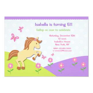 Pony Horse Bithday Party Invitations