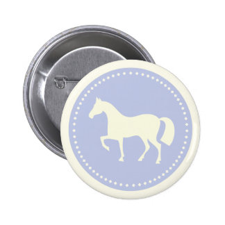 Pony/Horse silhouette equestrian button (blue)