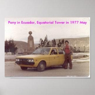 Pony-Hyundai, Ecuador, Equatorial Tower 1977 May Poster