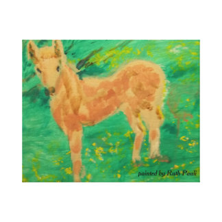 Pony in the Meadow-The Memory Collection Canvas Print