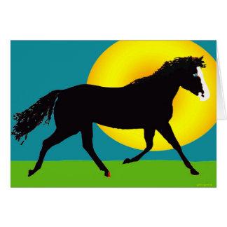 pony in the sun card