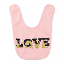 Pony love baby bib
