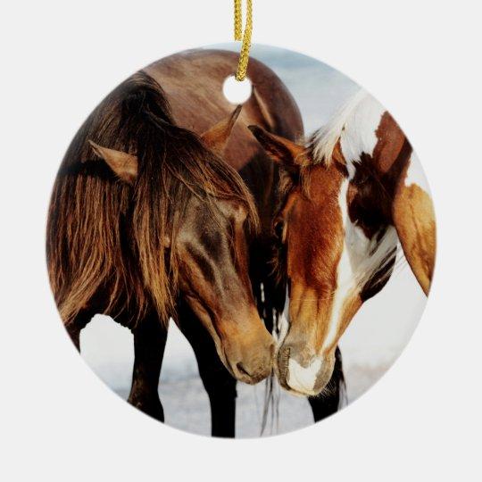 Pony Love Ceramic Ornament