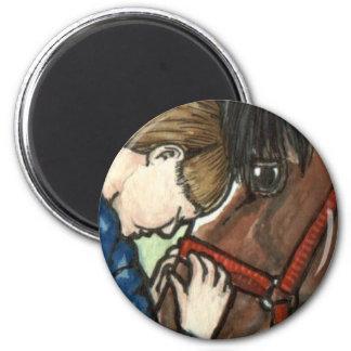 Pony Love Horse Art 2 Inch Round Magnet