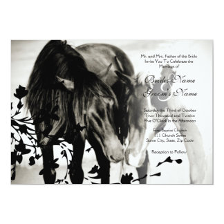 "Pony Love Wedding Invitation 5"" X 7"" Invitation Card"