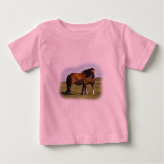 Pony Mare Feeding Foal infant t-shirt