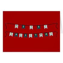 Pony Merry christmas bunting card