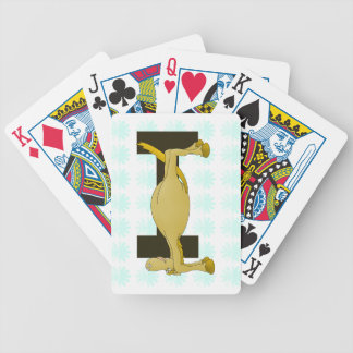 pony monogram I zazzle no shadow.png Bicycle Playing Cards