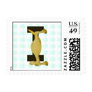 pony monogram I zazzle no shadow.png Postage Stamps