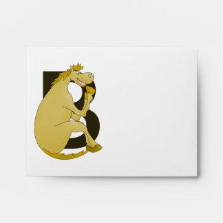 Pony Monogram Letter B Envelope